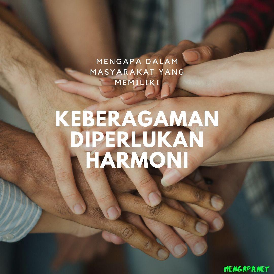 Mengapa Dalam Masyarakat Yang Memiliki Keberagaman Diperlukan Harmoni