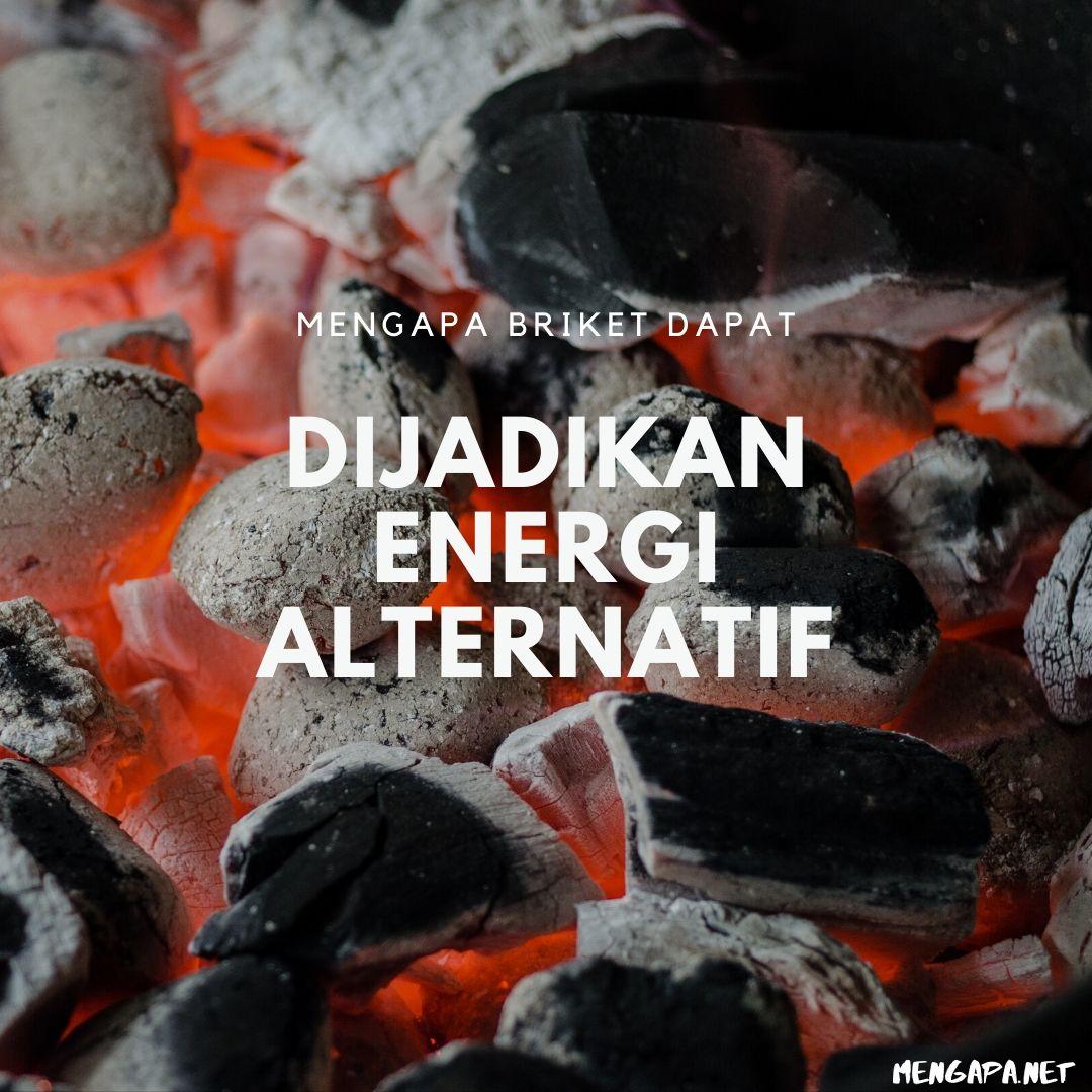mengapa briket dapat dijadikan energi alternatif